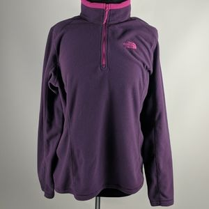 The North Face Purple 3/4 Zip Pullover Size XL